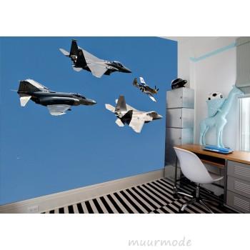 Vliesfotobehang Overvliegende straaljagers