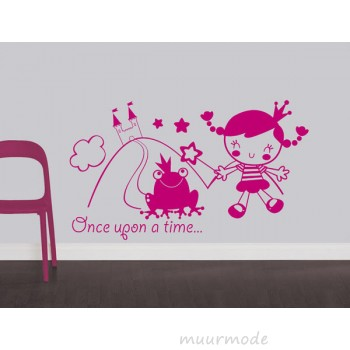 Babykamer sticker Once upon a time....