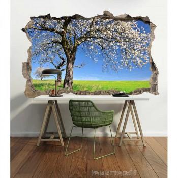 3D Muursticker Bomen in bloesem