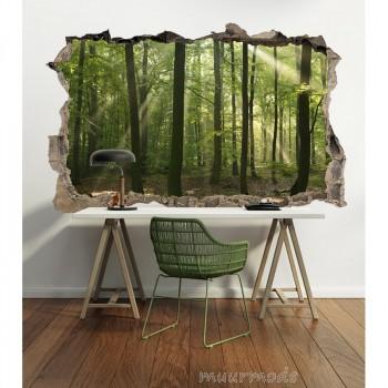 3D Muursticker Bomen in het bos