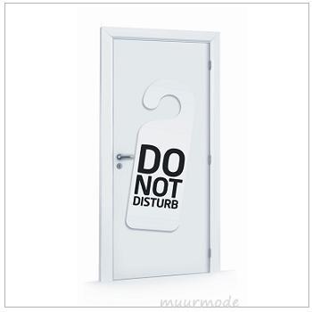 Deursticker Do not disturb