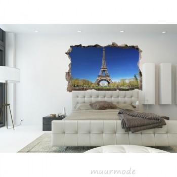 3D muursticker Eiffeltoren