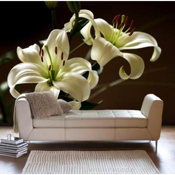 Vlies fotobehang Witte Lelies