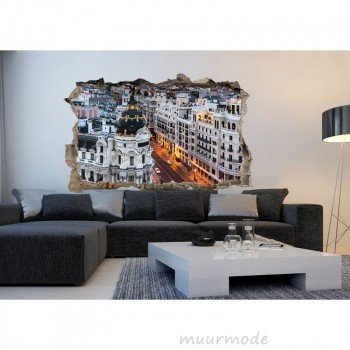3D muursticker Madrid