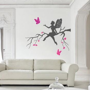 elfje met vlinders