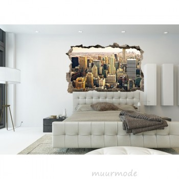 3D muursticker New York
