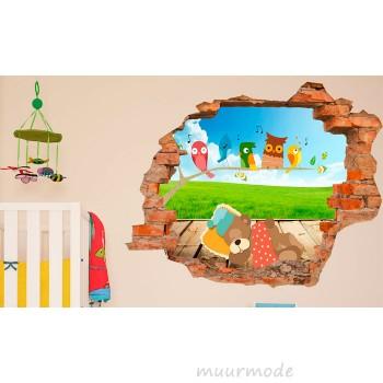 3d muurstickers voor een ruimtelijke look op de muur 3d kinder muursticker fluitende vogels thecheapjerseys Gallery