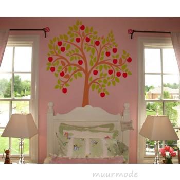 Muursticker Appelboom (3 kleurig)