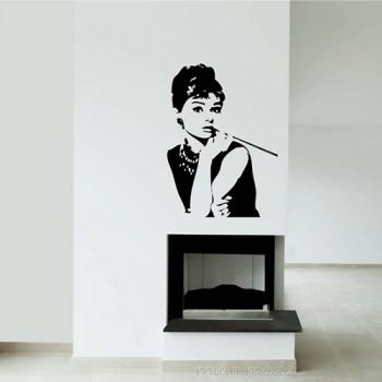 Interieursticker Audrey Hepburn