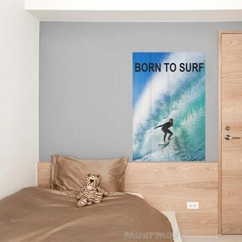 Surffoto op hout