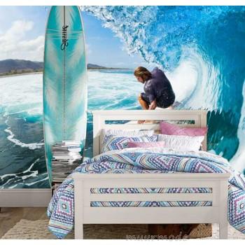 Vlies fotobehang Surfen tussen de golven