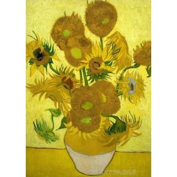 Canvas schilderij Zonnebloemen