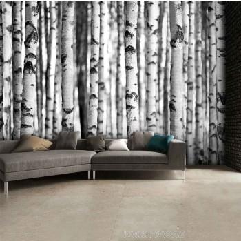 Bomen behang geeft je kamer een natuurlijke uitstraling - Wallpaper volwassen kamer zen ...