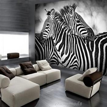 Kies een stijlvolle aankleding met zwart wit behang - Behang zebra ...