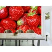 Vlies fotobehang Strawberries