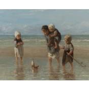 Canvas schilderij Kinderen der zee