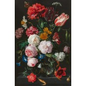 Canvas schilderij Still Life with Flowers in a Glass Vase