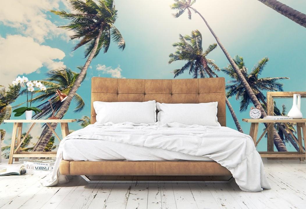 Vlies fotobehang Palmbomen