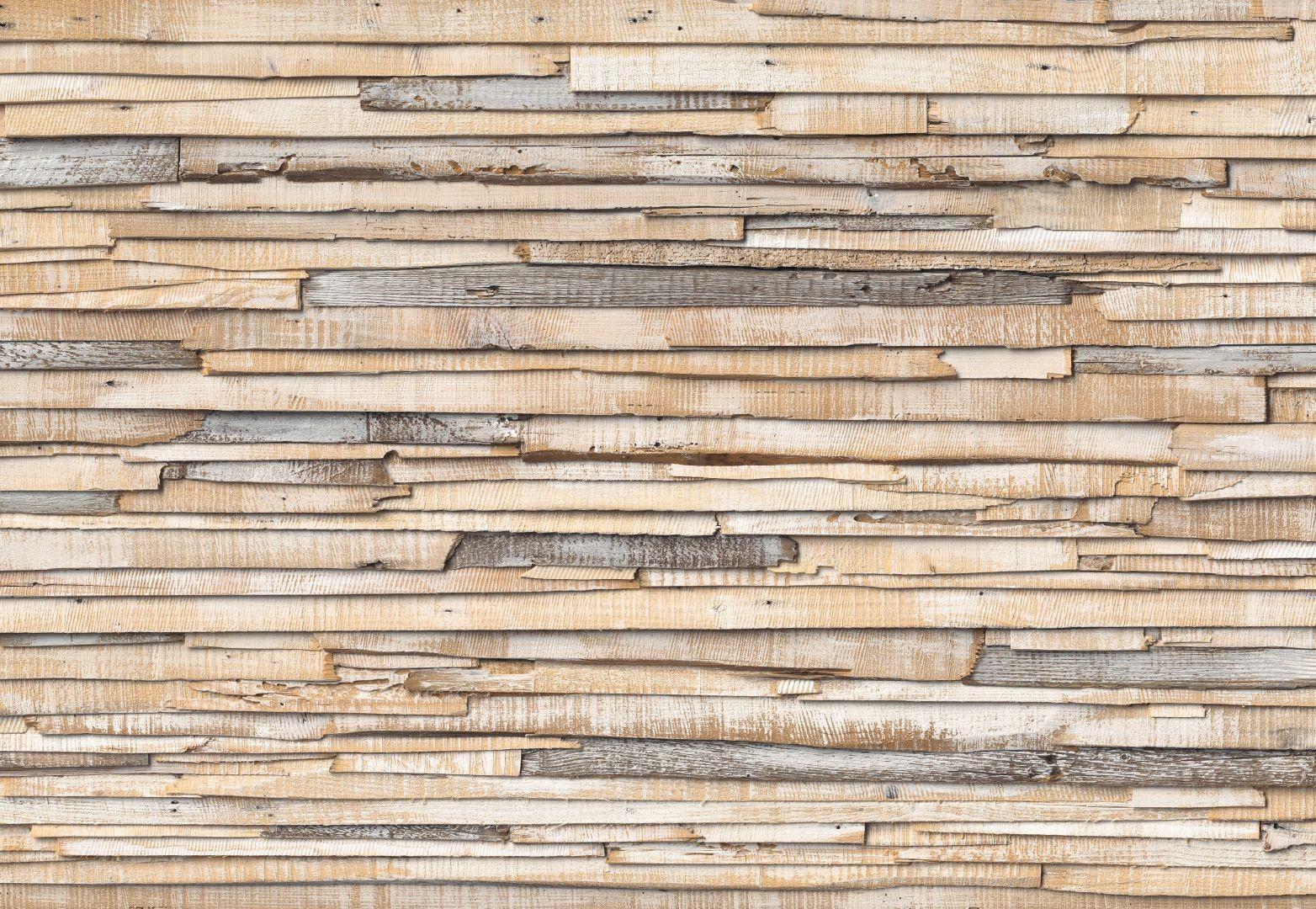 Fotobehang Whitewashed Wood Industrieel Behang Muurmode Nl