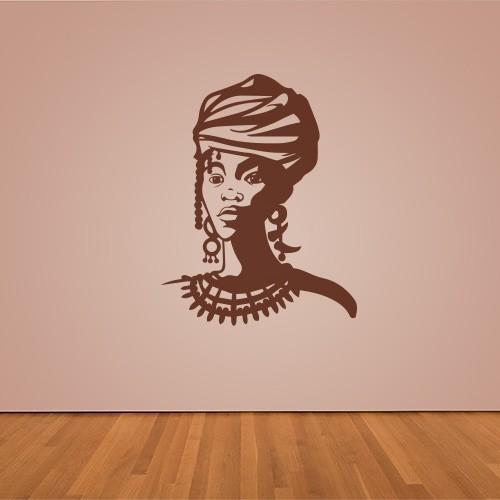 sticker gezicht afrikaanse vrouw