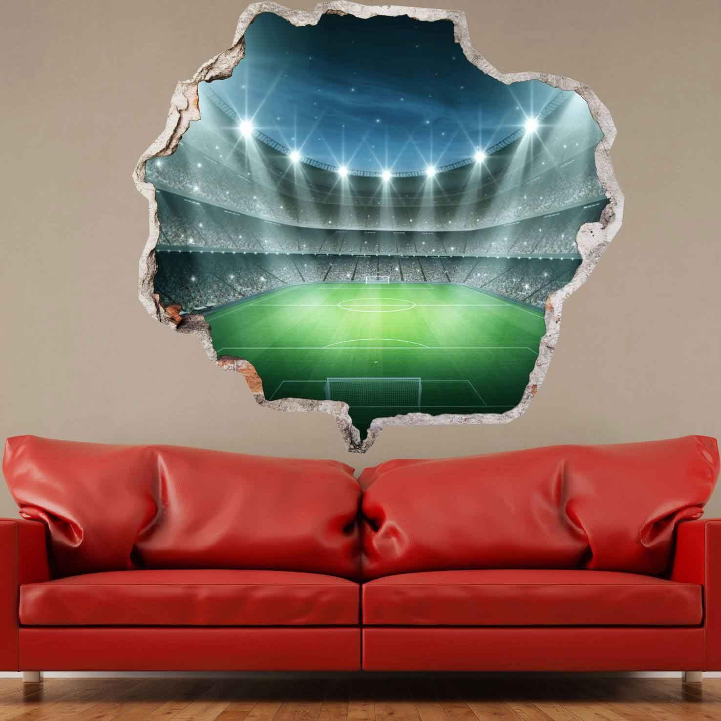 3D muursticker Voetbalstadion