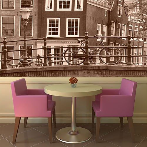 ... / Fotobehang / Steden en skyline behang / Vlies fotobehang Amsterdam