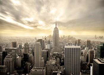 Bijzondere lucht boven stad