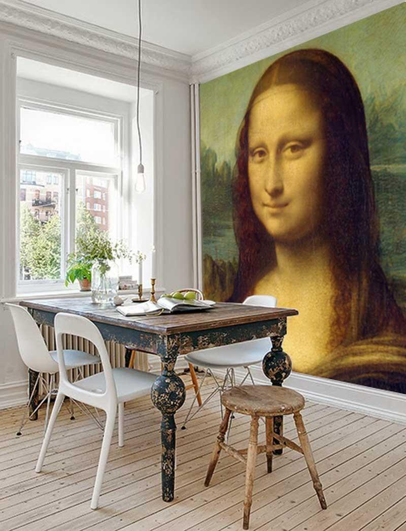 Vlies fotobehang Mona Lisa