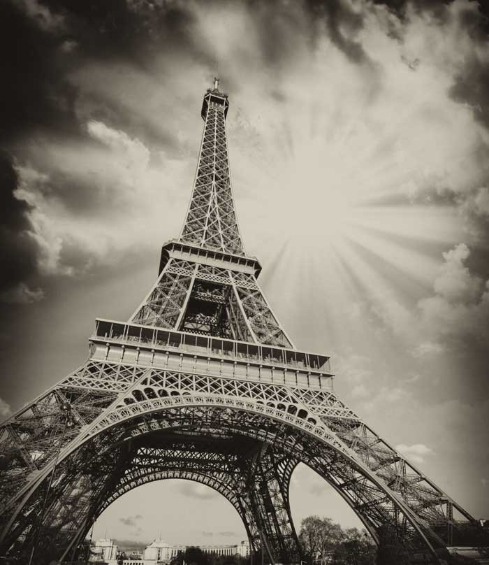 Vlies fotobehang Eiffeltoren   Muurmode nl
