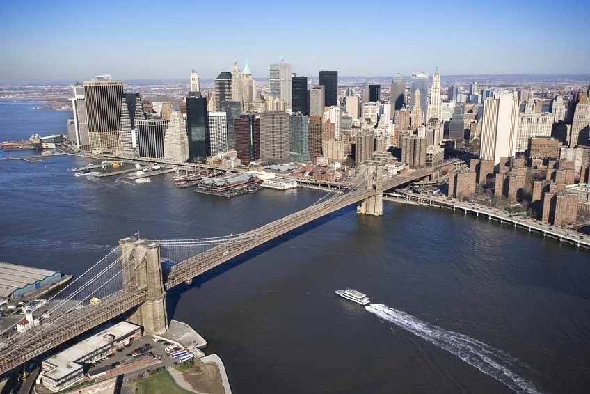 Vlies fotobehang Brooklyn Bridge NYC