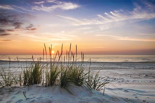 Vlies fotobehang avond zee for Schilderij zeezicht