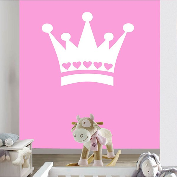 Kinderkamer muursticker Prinsessenkroon