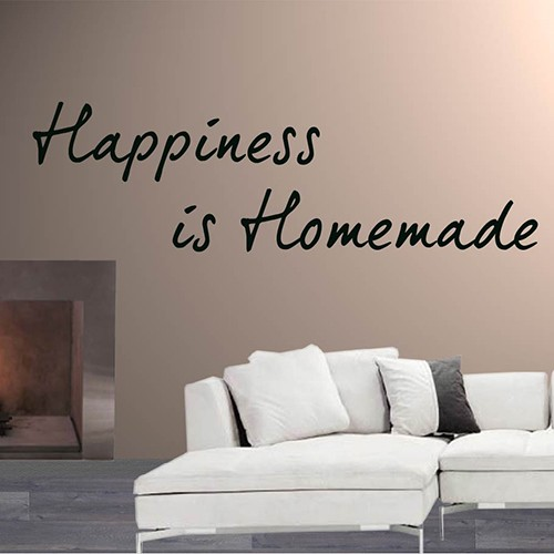 Tekststicker Happiness is homemade
