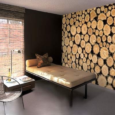 Een mooi gehakte houtstapel