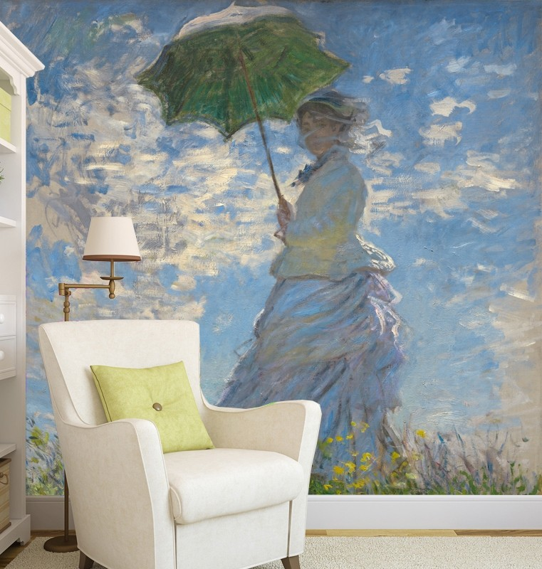 Vlies fotobehang Woman with Parasol