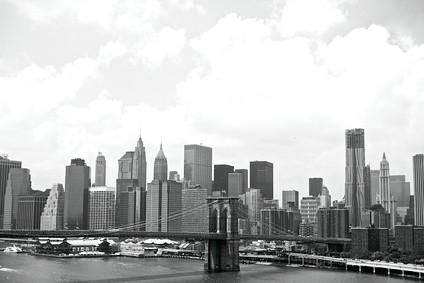 zwart wit foto New York
