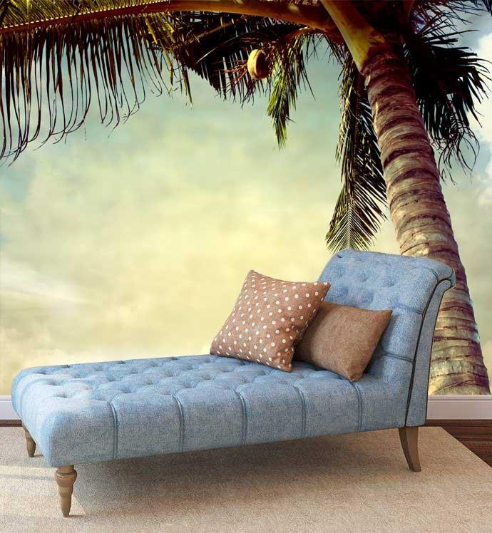 Fotobehang Vintage Palmboom