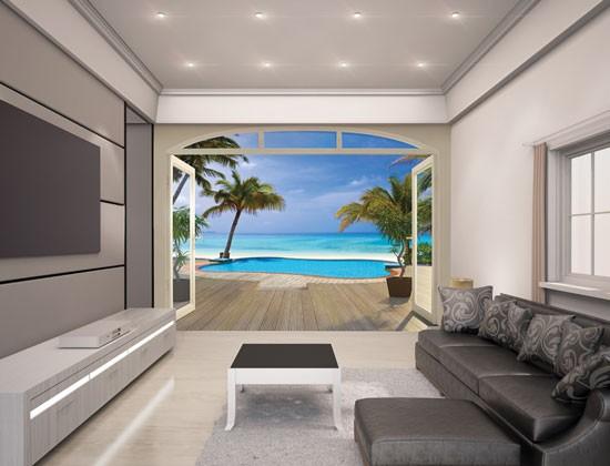Fotobehang Paradise beach