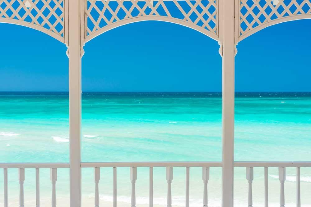 tuinposter serre aan strand muurmodenl