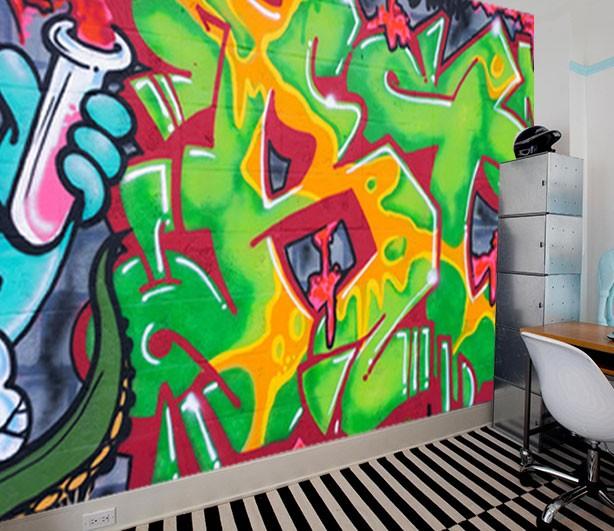 vlies fotobehang straatkunst graffiti muurmodenl