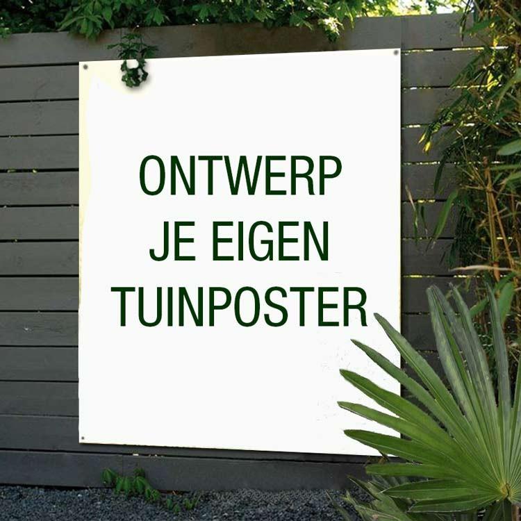 Maak je eigen ontwerp met foto voor tuinposter op maat