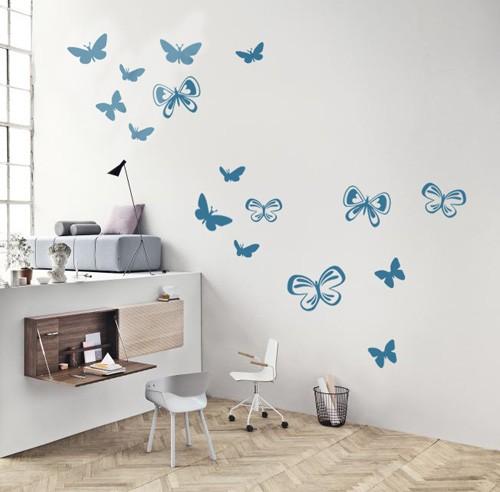 sticker vlinder set