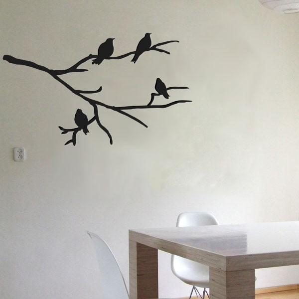 Muursticker tak met vogels - Stijlvol behang ontwerpen ...