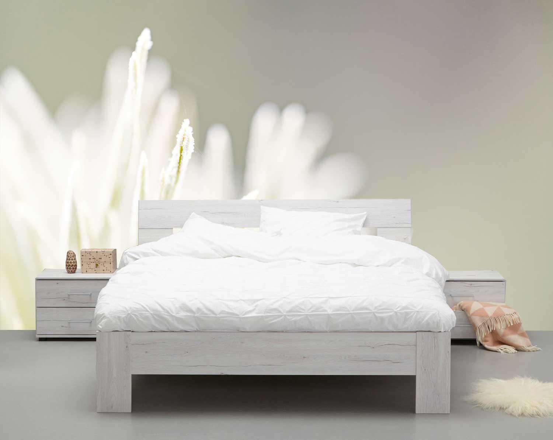 Vlies fotobehang witte bloem