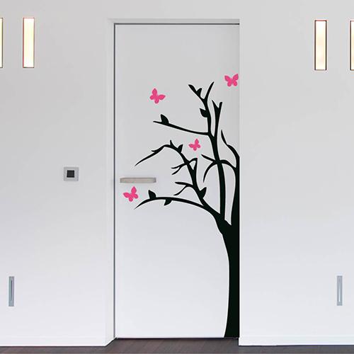 Deursticker Vlinderboom (2-kleurig)