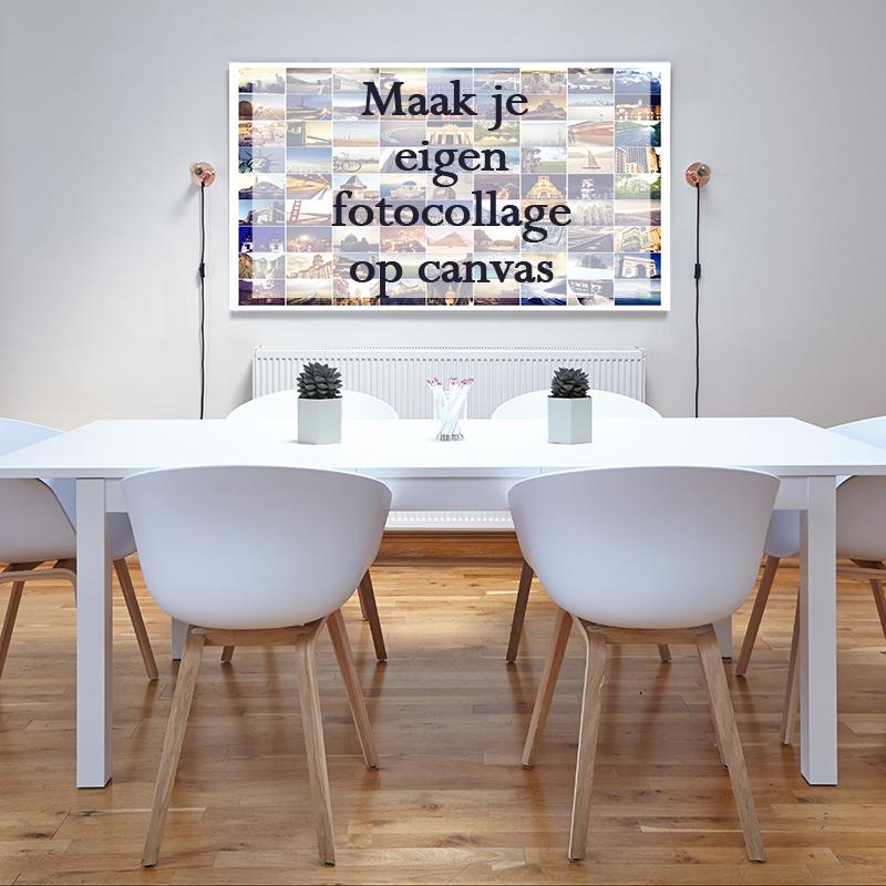 Eigen fotocollage op canvas