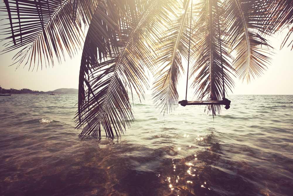 Vlies fotobehang Tropical beach_400x265