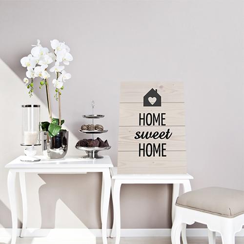 Tekst Home sweet home op hout
