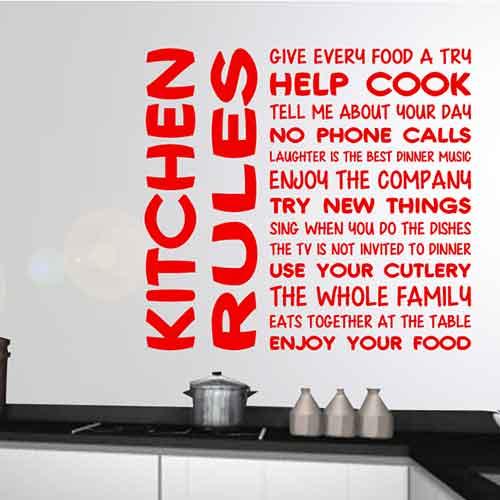 Tekststicker Keuken regels