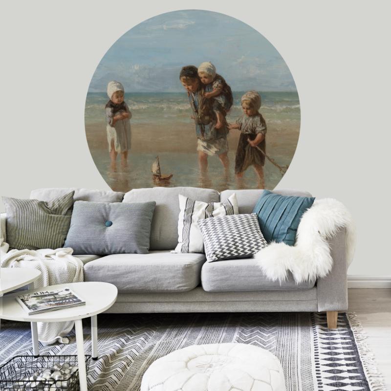 Behangcirkel Kinderen der zee